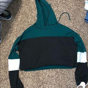 long sleeve cropped hoodie